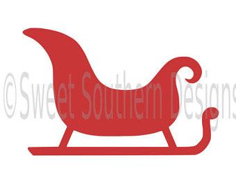 340x270 Santa Sleigh Svg Etsy