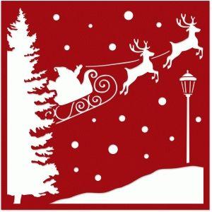 Santa Reindeer Silhouette