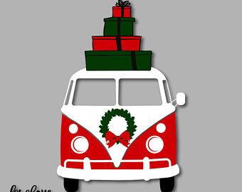 340x270 Christmas Camping Santa Reindeer Camper Merry Christmas