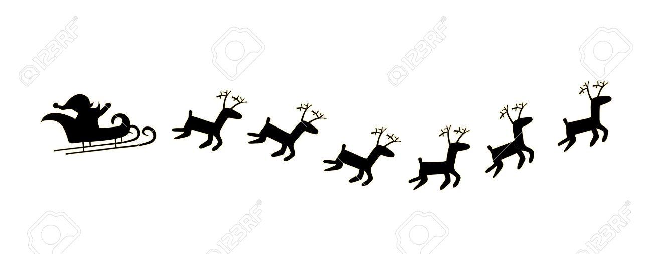 1300x506 Sleigh Clipart Deer
