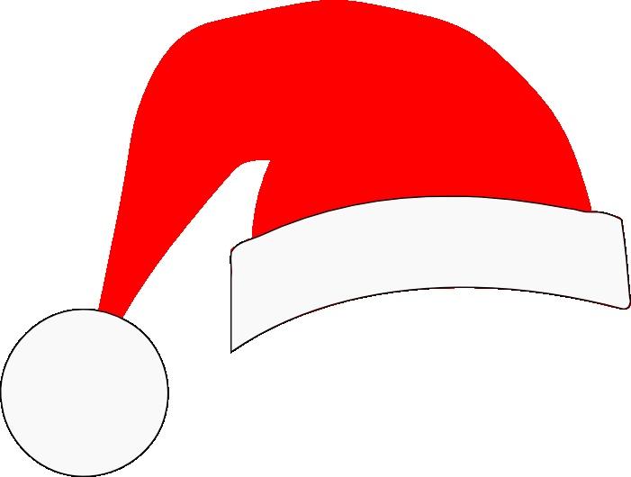 701x530 Bows And Santa Hats On Santa Hat Christmas Photo Cliparts