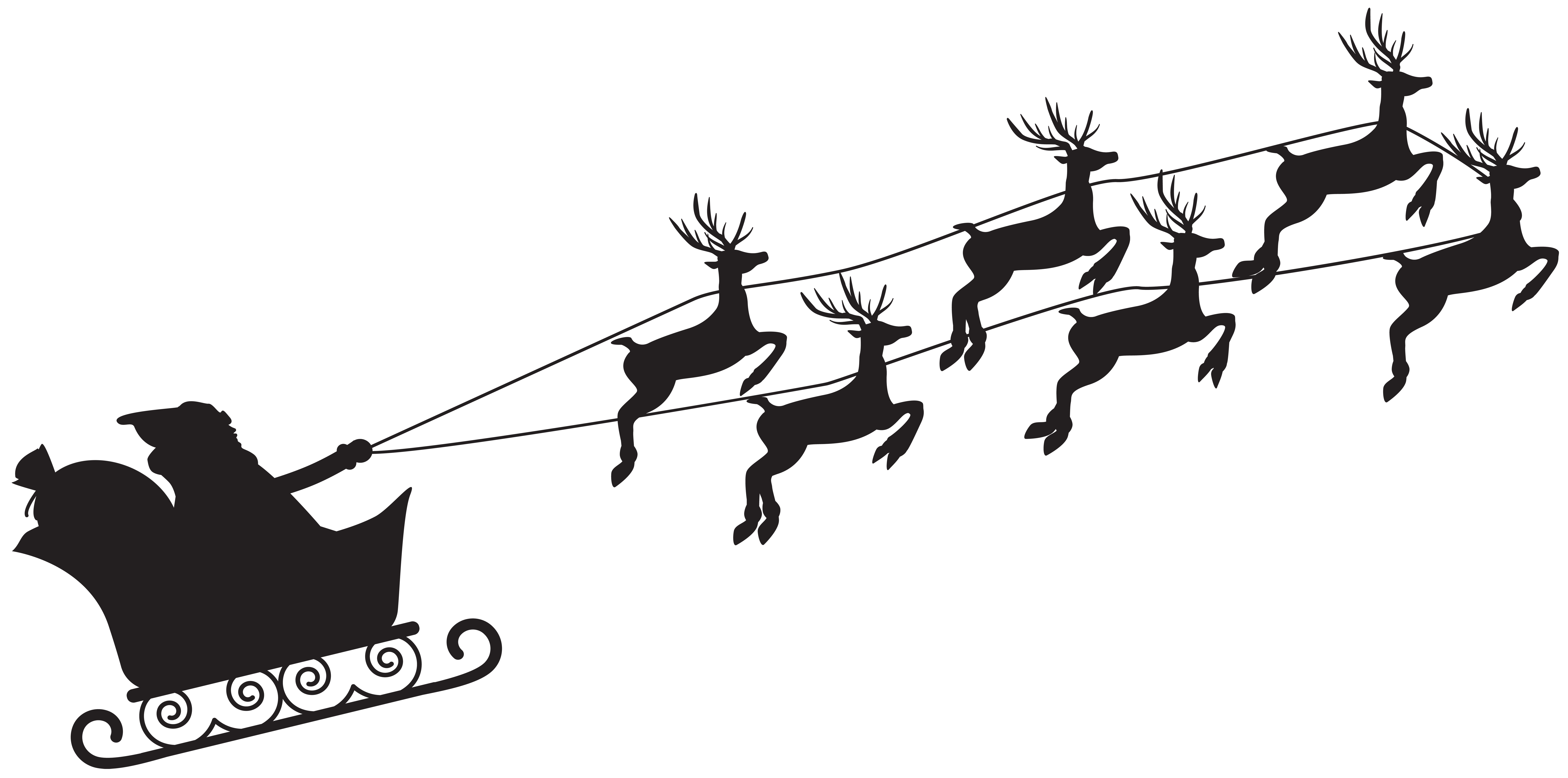 8000x3969 Santa Claus Silhouette Png Clip Artu200b Gallery Yopriceville