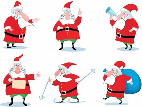 487x368 Santa Silhouette Free Vector Download (6,103 Free Vector)