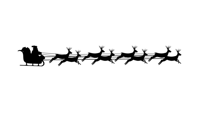 852x480 Christmas Santa Sleigh Motion Background 4k