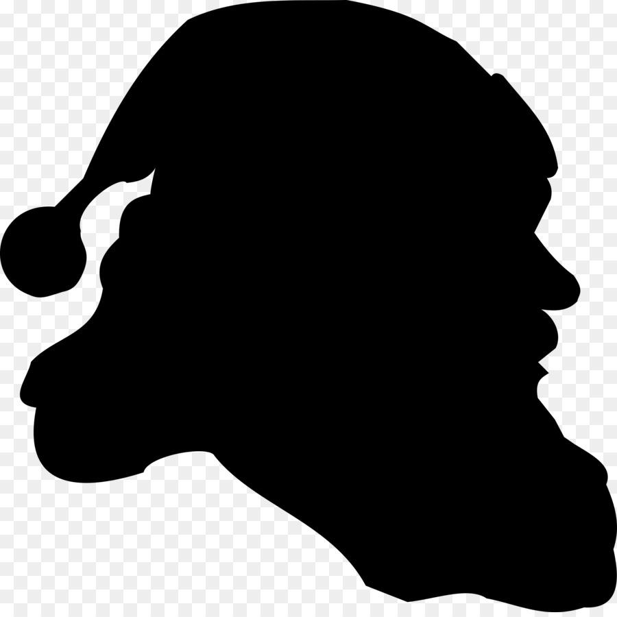 900x900 Santa Claus Silhouette Clip Art