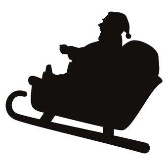 340x340 Free Cliparts Santa, Sled, Reindeer