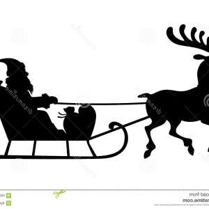 300x300 Santa Claus Reindeer Sleigh Black Silhouette Createmepink