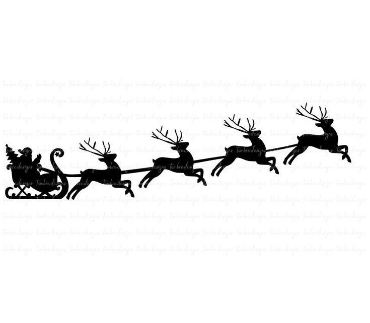 735x642 Santa Sleigh Reindeer Outline Mydrlynx