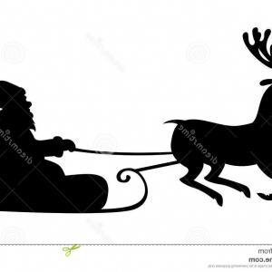 300x300 Stock Illustration Christmas Silhouette Santa Claus Riding