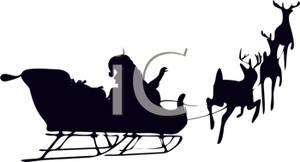 300x162 Of Santa's Sleigh Being Pulled By Reindeer