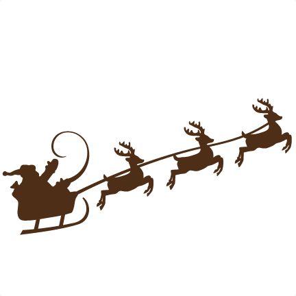 432x432 Free Svg File Download Santa And Sleigh Cricut Svg