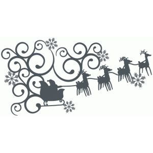 300x300 Santa Sleigh Fancy Corner Silhouette Design, Corner And Santa