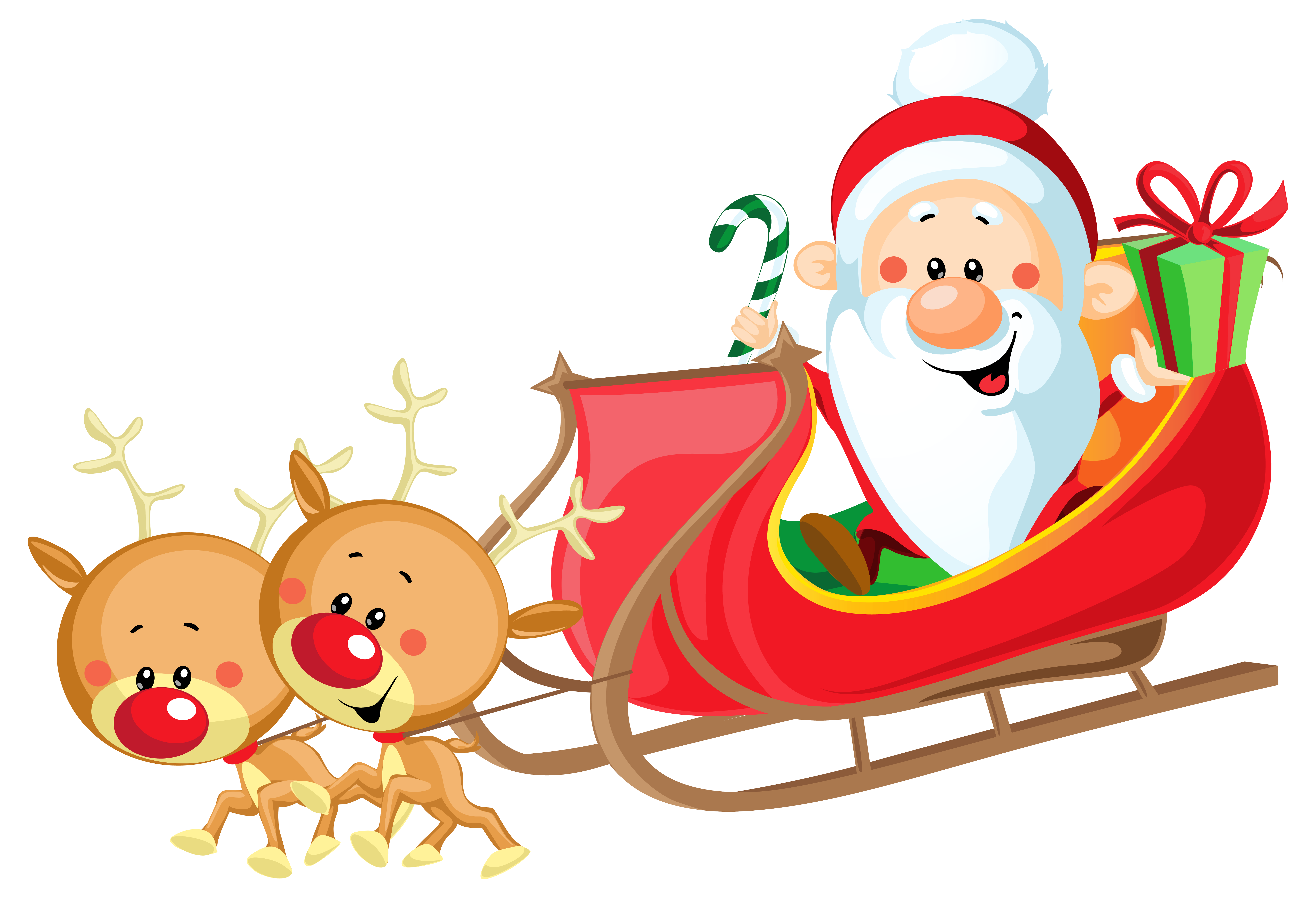Santa Sleigh Silhouette Clip Art At Getdrawings Com Free For Rh