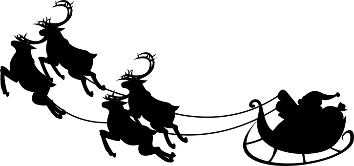 725x340 Free Cliparts Santa Sled Reindeer