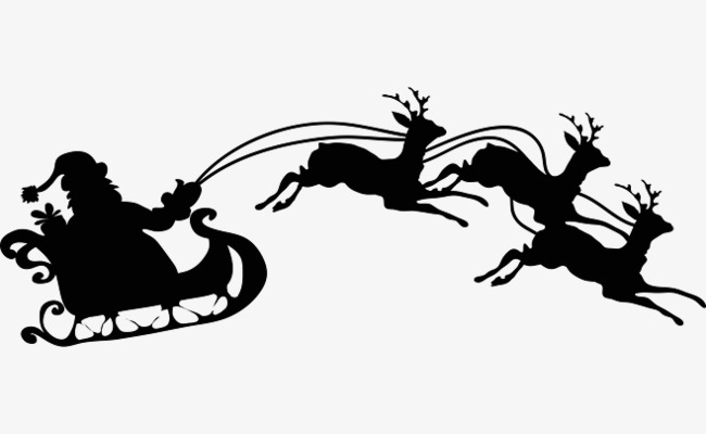 650x400 Santa Claus Sitting In Sleigh, Black Christmas Pictures, Creative