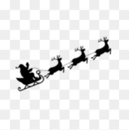 260x261 Santa Sleigh Png, Vectors, Psd, And Clipart For Free Download