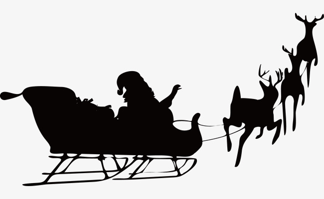 650x400 Christmas Reindeer By People Vector Silhouettes, Christmas
