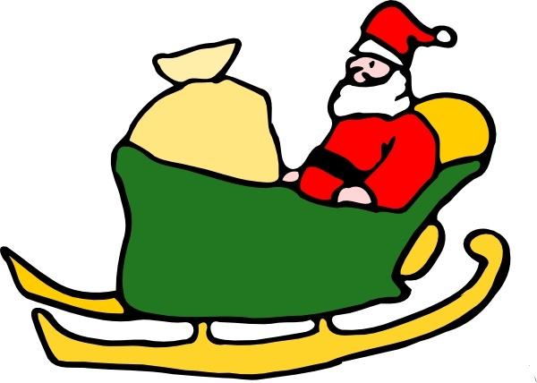600x428 Fen Santa In His Sleigh Clip Art Free Vector In Open Office