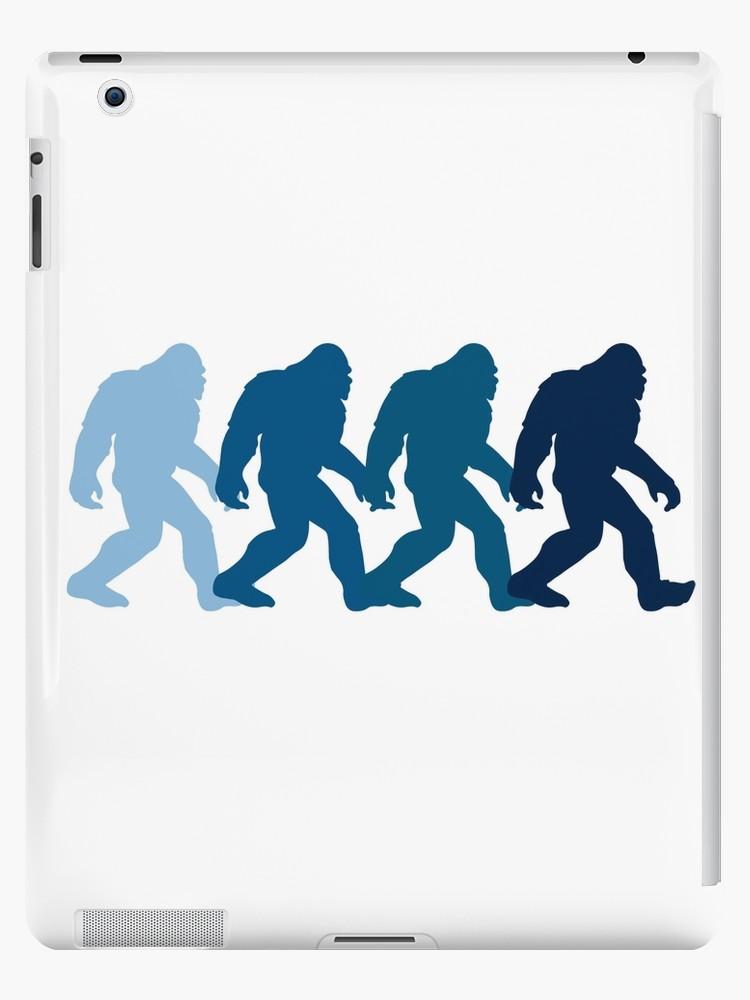 750x1000 Bigfoot Silhouette Retro Pop Art Sasquatch Graphic T Shirt Ipad