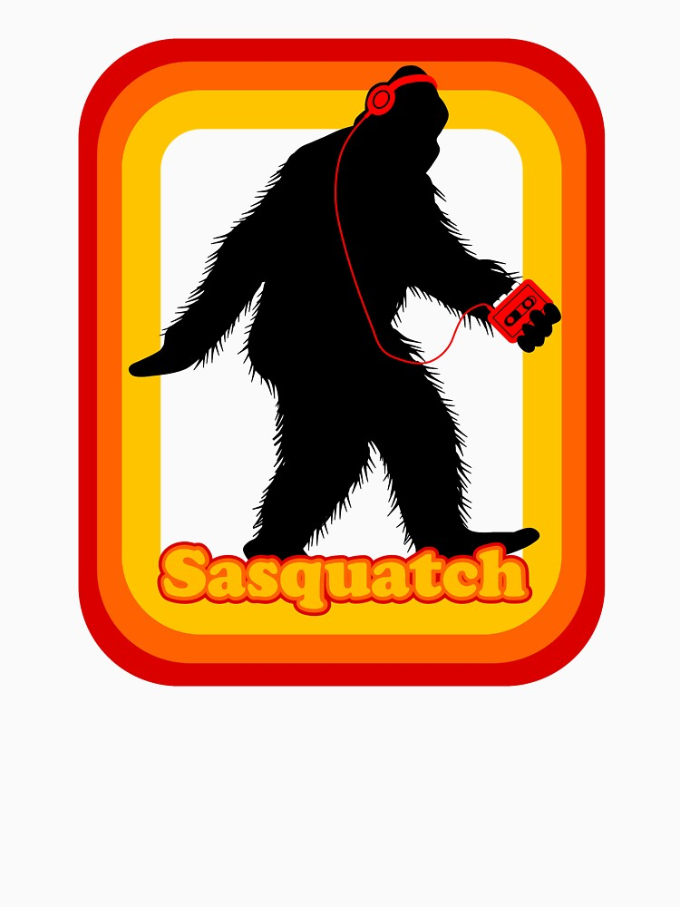 750x1000 Retro Sasquatch Mens V Neck T Shirt By Birdiebeard Redbubble