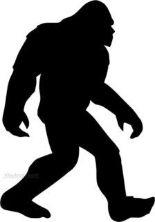 Sasquatch Silhouette Clip Art
