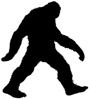 300x334 Bigfoot Sasquatch Monster Car Or Truck Window Decal Sticker