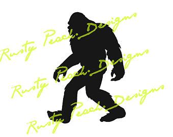 340x270 Bigfoot Silhouette Etsy