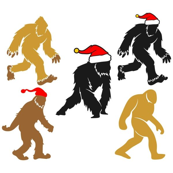 600x600 Yetti Bigfoot Cuttable Designs Svgs, Templates And Silhouette