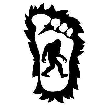 355x355 Bigfoot's Hairy Sasquatch Foot 5 Year Outdoor Premium Vinyl Decal