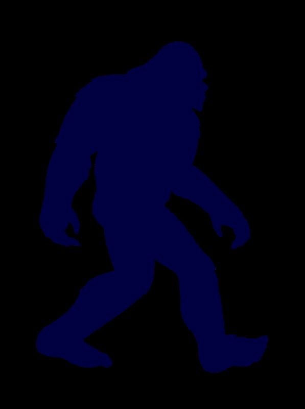 597x800 Bigfoot Clipart Silhouette