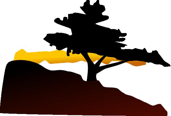 600x407 Free Cedar Tree Silhouette, Hanslodge Clip Art Collection