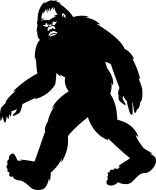 156x190 Silhouette Of A Bigfoot Walking Bigfoot, Vector Art And Silhouettes