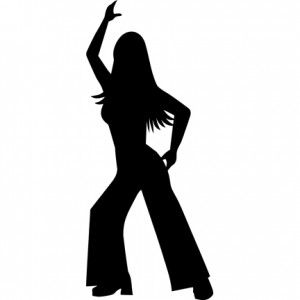 300x300 Disco Silhouette Girl Svg And Templates Discos