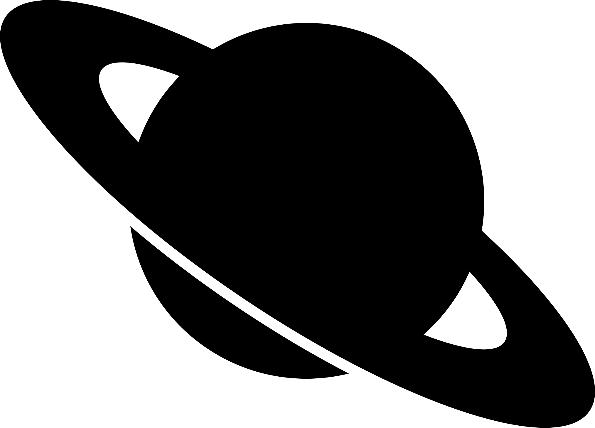 2027x1458 Planet Clipart Silhouette