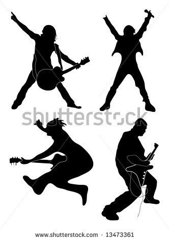 332x470 Rock Star Silhouettes Rock Star Dance Party Star