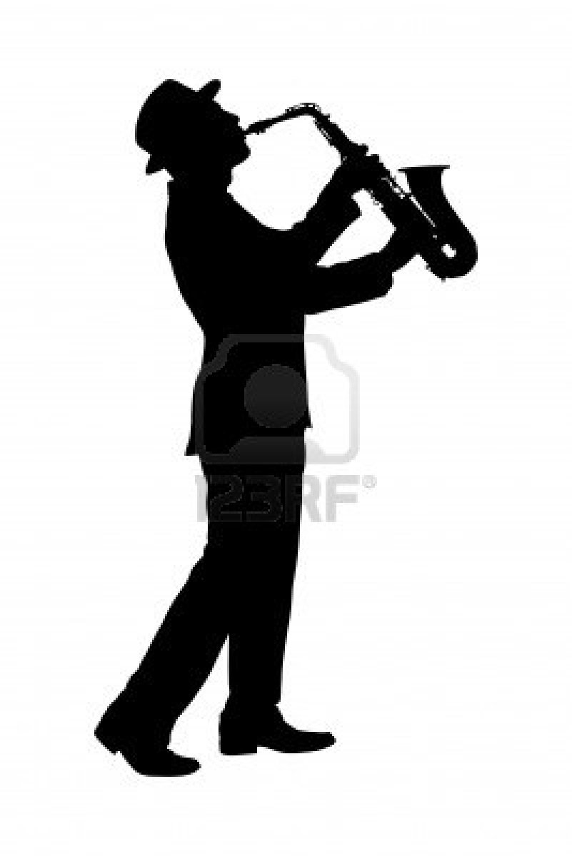 Sax Player Silhouette