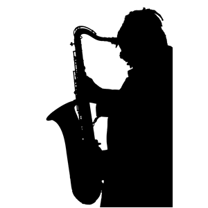 300x300 Saxophone Player Silhouette Clipart, Cliparts Of Saxophone Player
