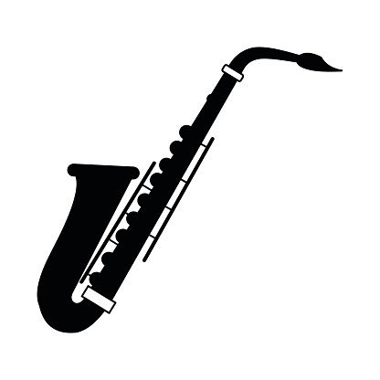 saxophone silhouette at getdrawings com free for personal use rh getdrawings com saxophone clipart black and white saxophone clipart free