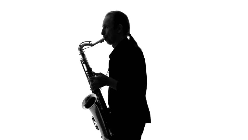 852x480 Close Up Of Dark Silhouette Of Musician Playing The Saxophone