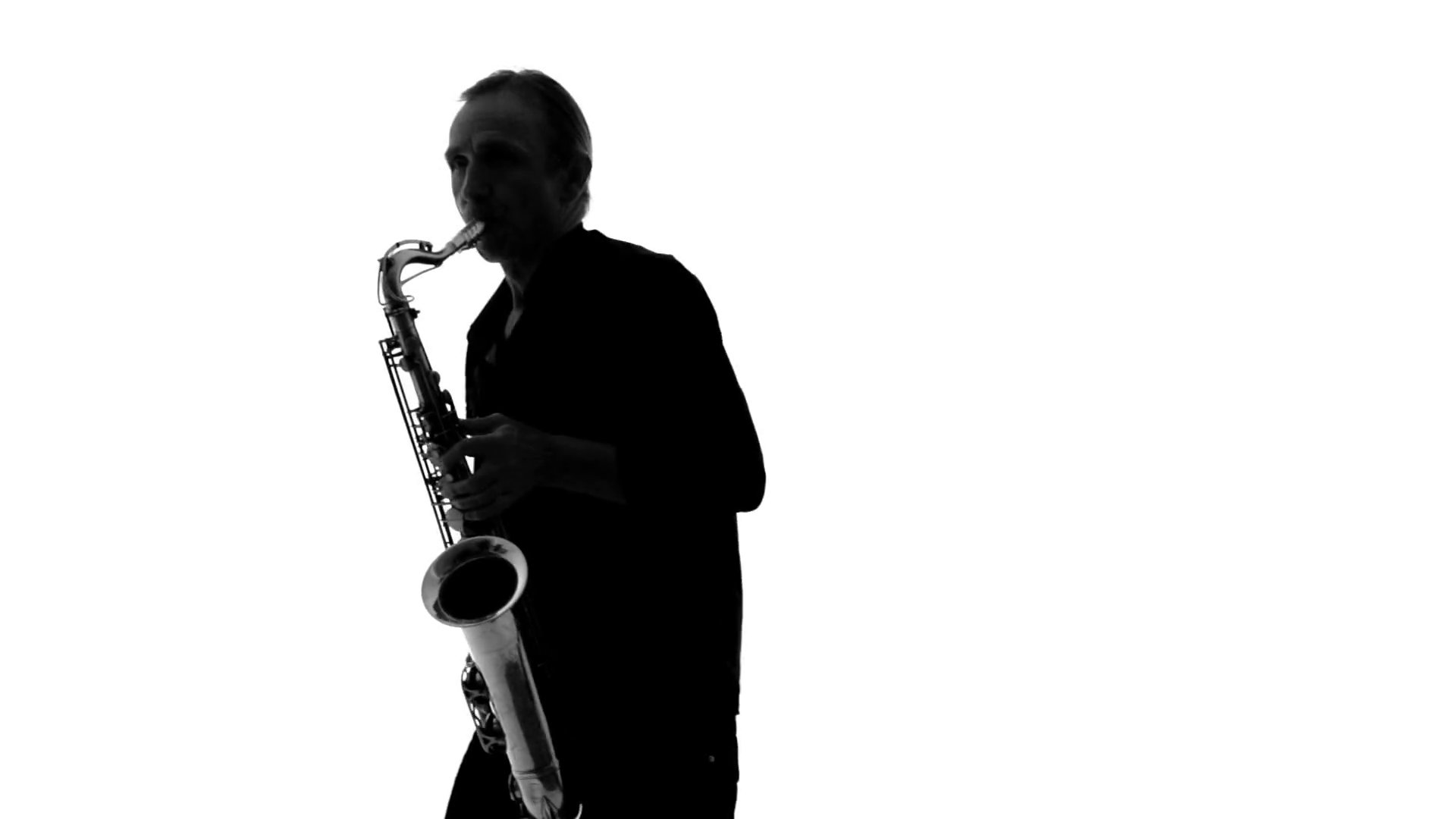 1920x1080 Close Up Of Silhouette Of Musician Playing The Saxophone On