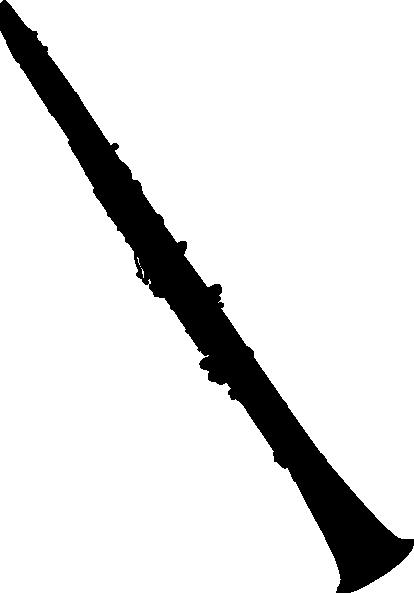 414x593 Clarinet Silhouette Clip Art