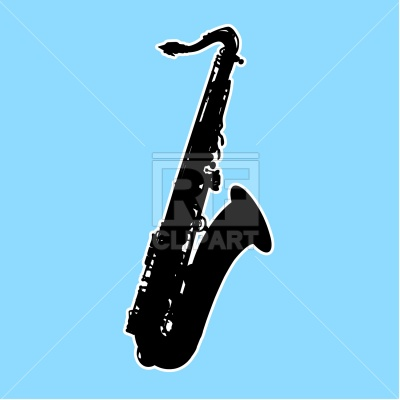 400x400 Saxophone Silhouette Royalty Free Vector Clip Art Image