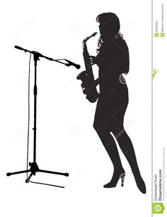 236x306 Clip Art Women Saxophone Silhouette