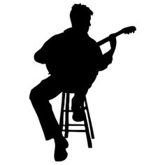 236x236 Sax Player Silhouette Silhouette, Cutting Files And Stenciling
