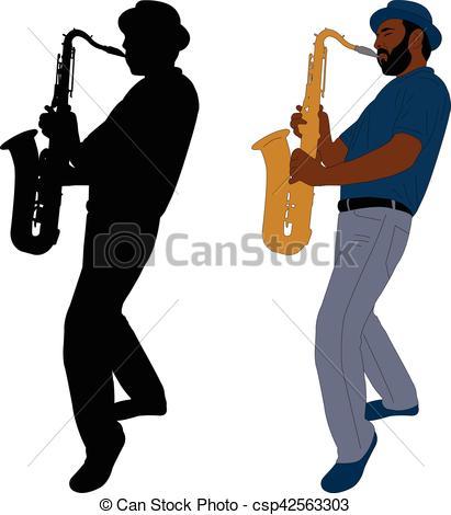 411x470 Jeux, Musicien, Saxophone. Silhouette, Musicien, , Clipart