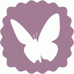 300x300 Silhouette Design Store Butterfly Scallop Badge Cricut