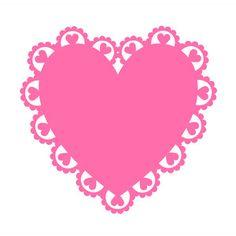 236x236 Silhouette Online Store Scallop Heart Doily Silouhette