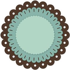 236x236 Scallop Circle Svg File Svg File, Silhouettes And Target