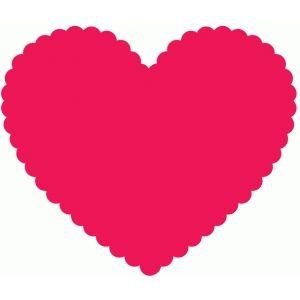 300x300 Scallop Heart Silhouette Design, Silhouettes And Silhouette Files