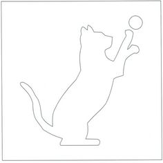 236x236 Scary Cat Pattern. Use The Printable Outline For Crafts, Creating